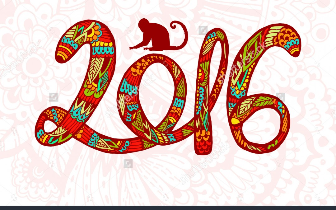 Happy Chinese New Year Year Of The Fire Monkey